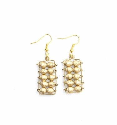 AGE - Abacus Bead Earring Gold