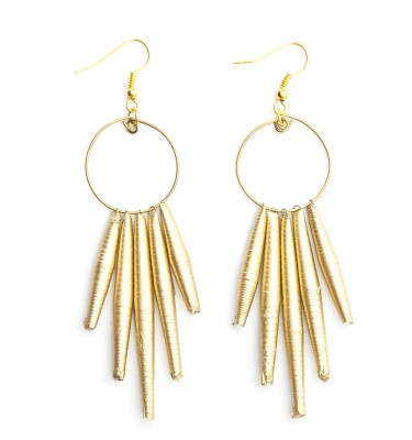 CPG - Circle Drop Earring All Gold