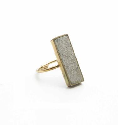 POR - Paper Rock Ring Oblong
