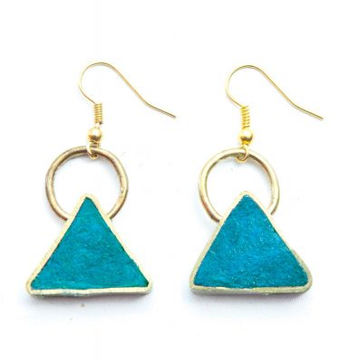 Triangle pulp earring